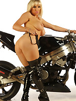 Sexy Rebecca wants to ride her big bike and then your big cock.